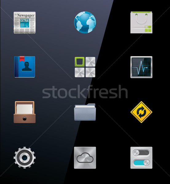 Vector mobile devices icons. Part 2 Stock photo © tele52