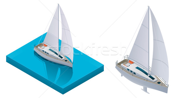 Vector isometric yacht Stock photo © tele52