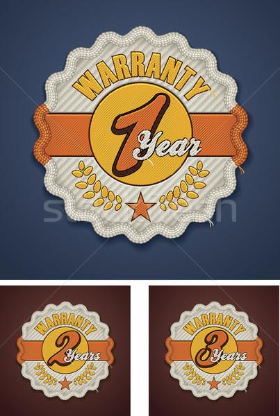 Vetor garantia tecido distintivo detalhado ícone Foto stock © tele52