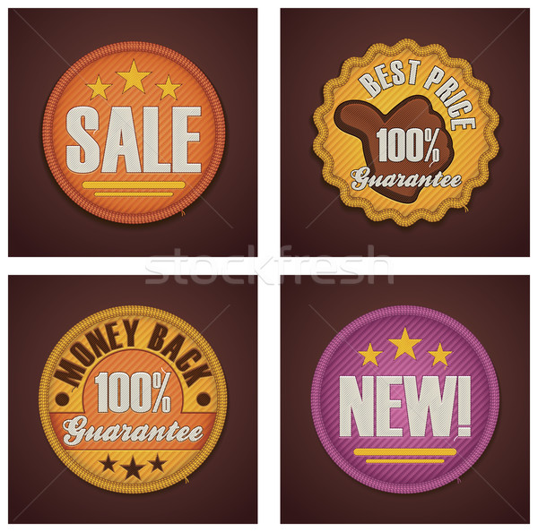 Vector shopping badges set Stock photo © tele52