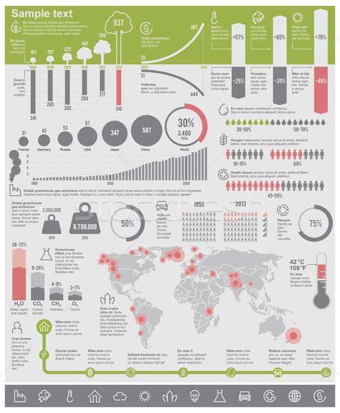 Vector environmental problems infographic elements Stock photo © tele52