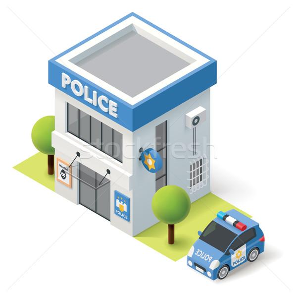 Vector isometric police department Stock photo © tele52