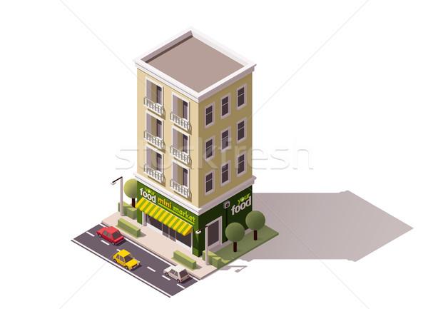 вектора изометрический мини рынке здании Сток-фото © tele52