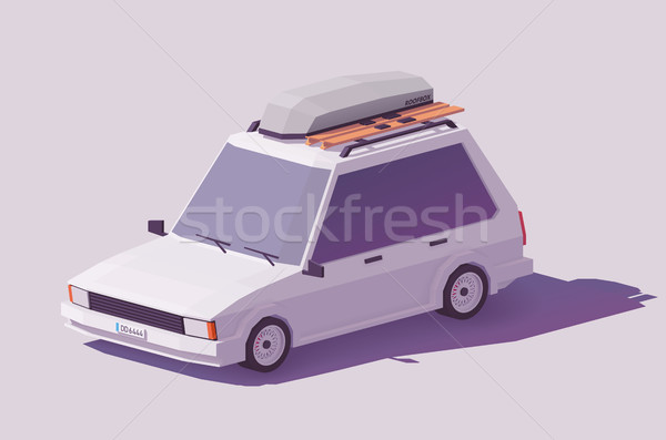 Vector low poly estate car Stock photo © tele52
