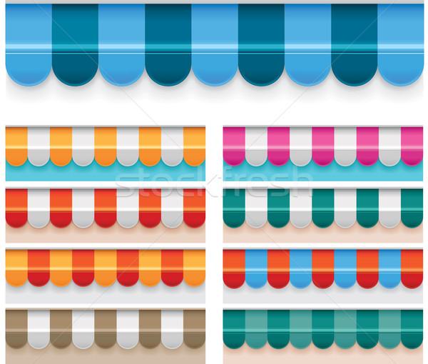 ベクトル セット 詳しい 異なる 色 背景 ストックフォト © tele52
