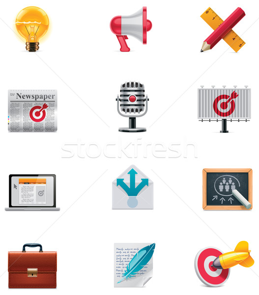 Vector marketing icon set Stock photo © tele52