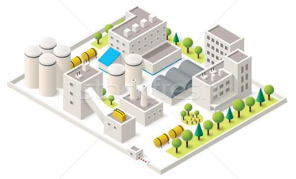 Vector isometric industrial district Stock photo © tele52