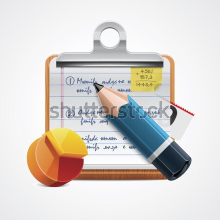 Vector writing report icon Stock photo © tele52