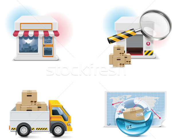 Vector shopping icon set and elements. Part 1 Stock photo © tele52