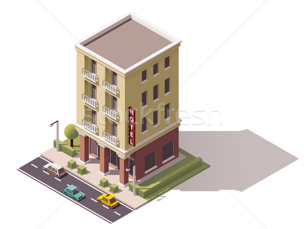 Vector isometric hotel building Stock photo © tele52