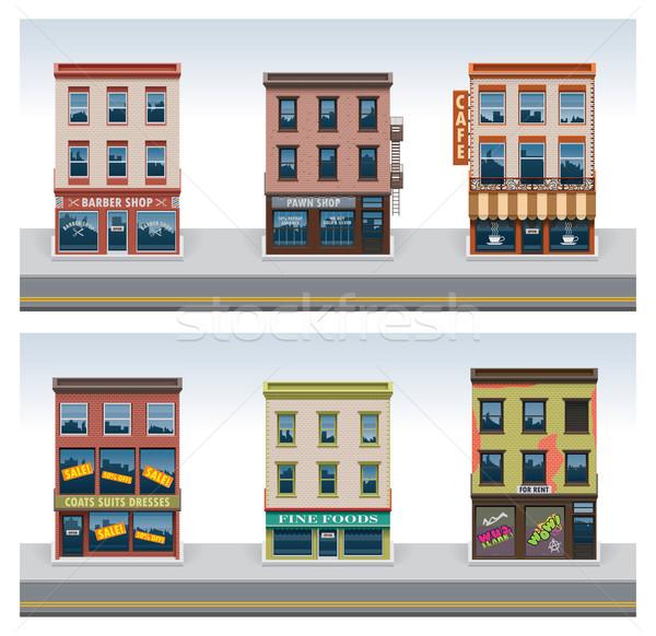 Vector city buildings icon set  Stock photo © tele52