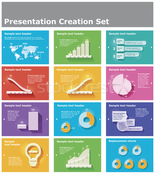 Vector presentation elements Stock photo © tele52