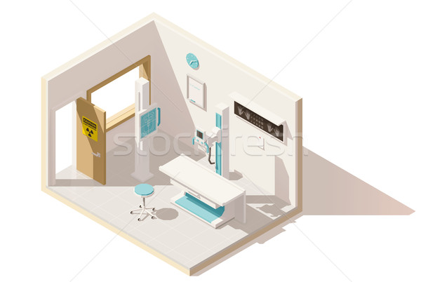 Vector isometric low poly x-ray machine Stock photo © tele52