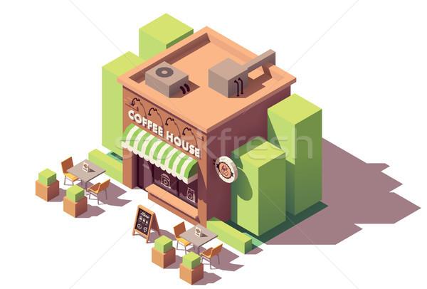 Vector isometric coffee shop Stock photo © tele52