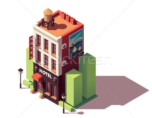 Vector isometric hotel building Stock photo © tele52
