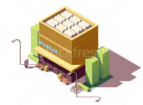 Vector isometric museum building Stock photo © tele52