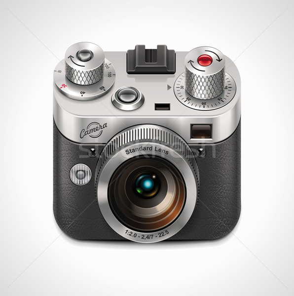 Stock photo: Vector retro camera XXL icon