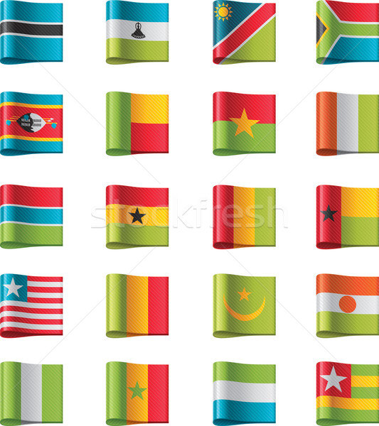Vector flags. Africa, part 11 Stock photo © tele52