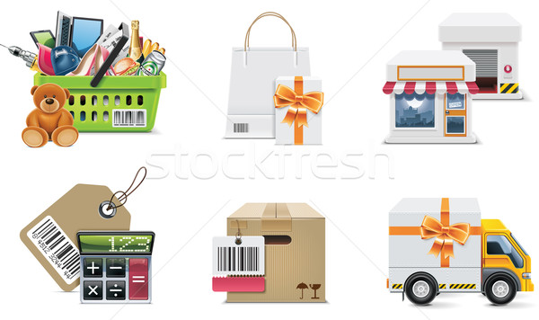 Vector shopping icon set and elements. Part 2 Stock photo © tele52
