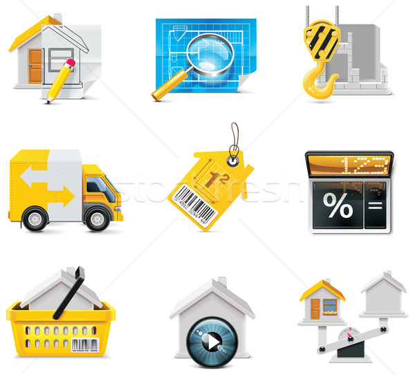 Vector real estate icons. Part 2 Stock photo © tele52