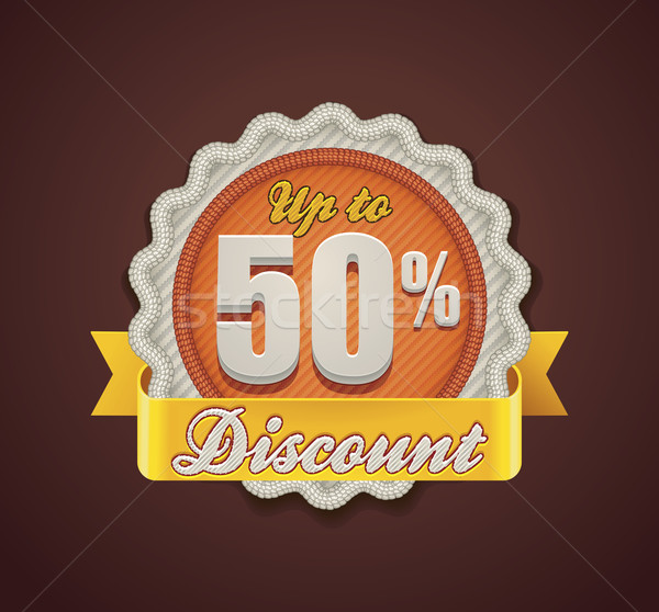 Vector up to 50% discount badge Stock photo © tele52