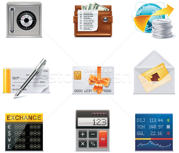 Vector banking icons. Part 2 Stock photo © tele52