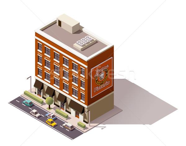 Stok fotoğraf: Vektör · izometrik · Bina · ikon · şehir · inşaat