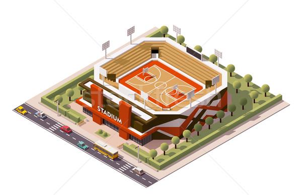 Vector isometric basketball arena Stock photo © tele52