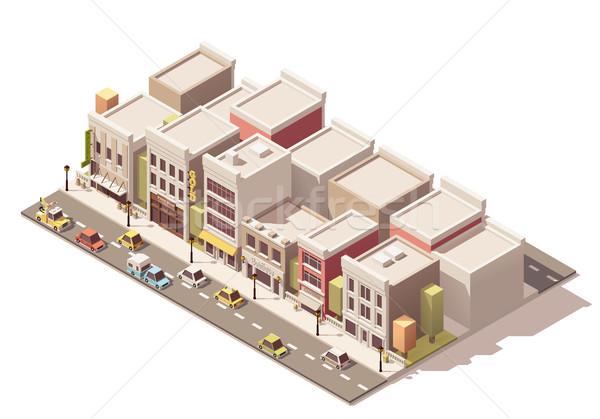 Stok fotoğraf: Vektör · izometrik · sokak · kasaba · farklı