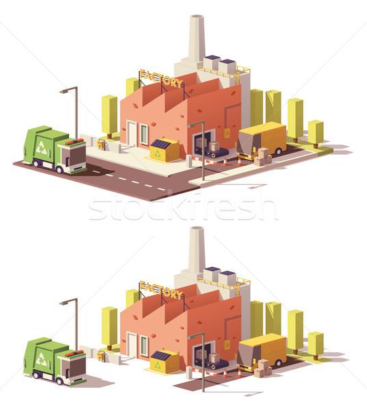 Vecteur faible usine icône cases Photo stock © tele52