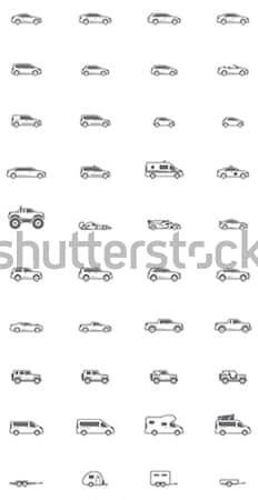 Vetor carro diferente esportes ônibus Foto stock © tele52