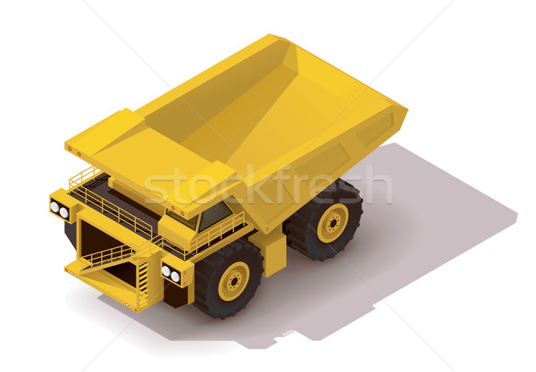 Vector isometric haul truck Stock photo © tele52