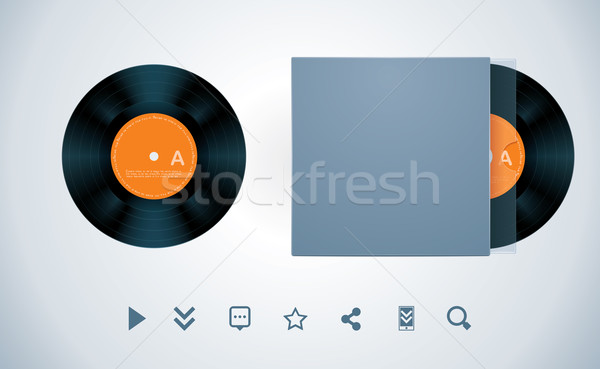 вектора виниловых диск конверт lp музыку Сток-фото © tele52