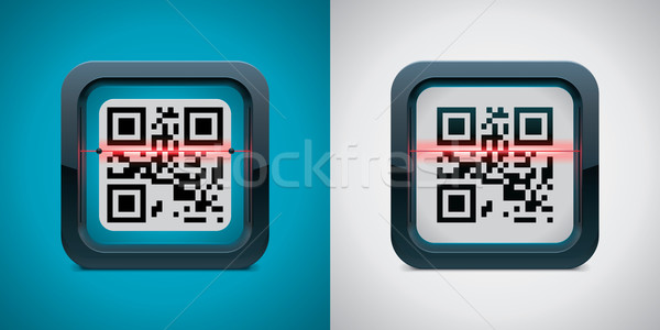 Vector QR code scanner icon Stock photo © tele52