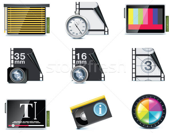 Vector video icons. Part 7 Stock photo © tele52
