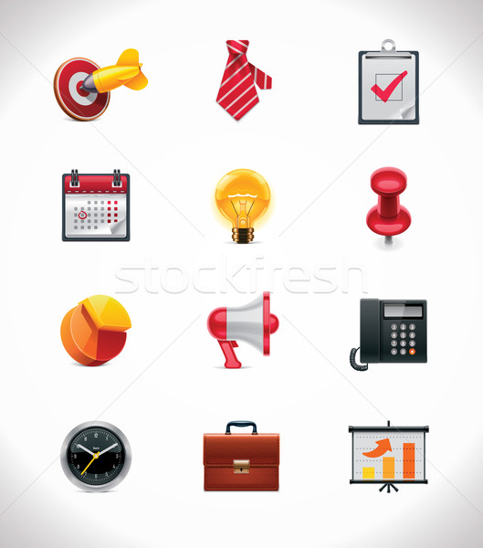 Vector business icon set Stock photo © tele52