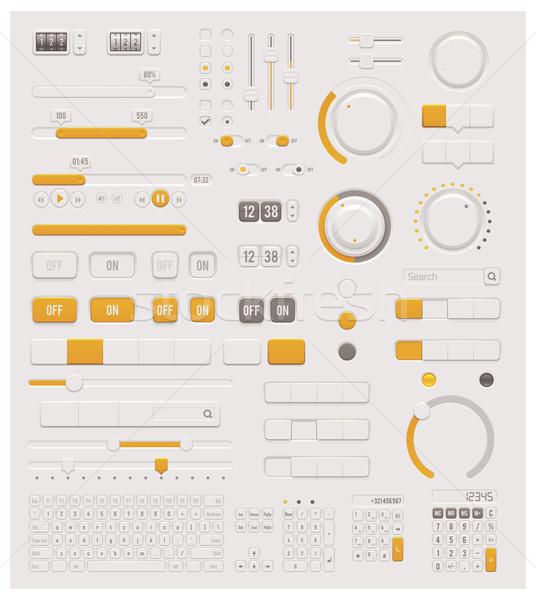 Vector UI dials set Stock photo © tele52
