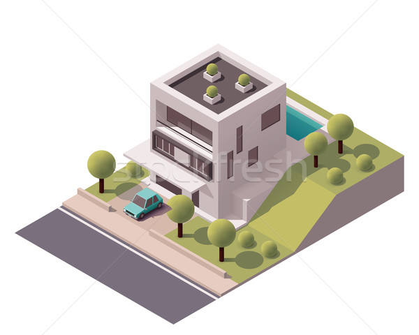 Stock photo: Vector isometric modern house
