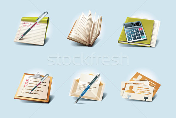 Vector application icons. Part 1 Stock photo © tele52