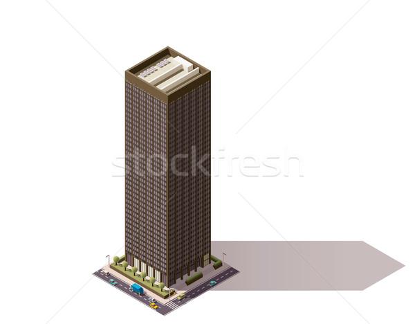 Vector isometric building Stock photo © tele52