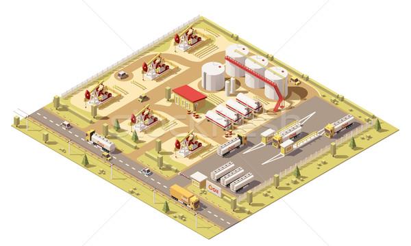 Vecteur isométrique faible pétrolières domaine illustration Photo stock © tele52