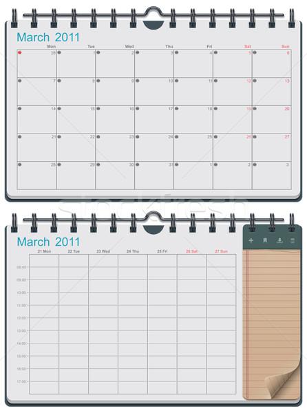 Vector calendar template Stock photo © tele52
