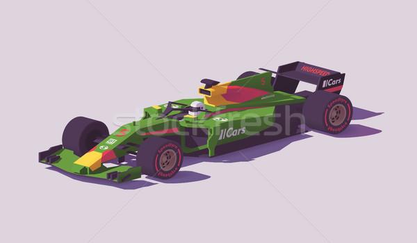 Vecteur faible formule course voiture vert Photo stock © tele52