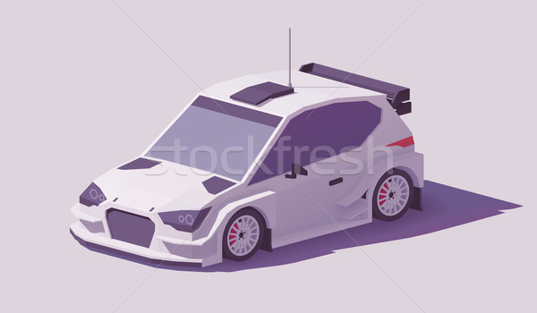 Vector laag rally racing auto witte Stockfoto © tele52