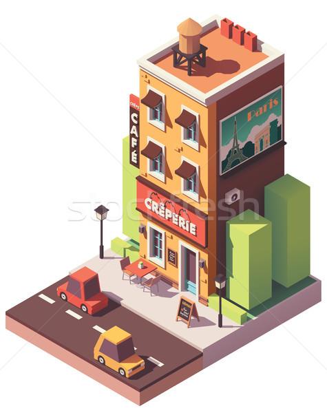 Vector isometric creperie restaurant Stock photo © tele52