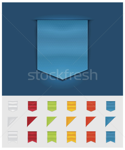 Stock photo: Vector ribbons and tags