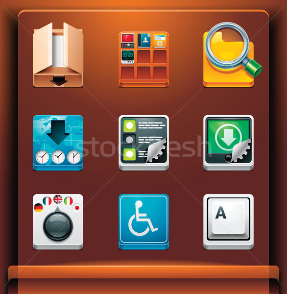 Stock photo: System tools icons