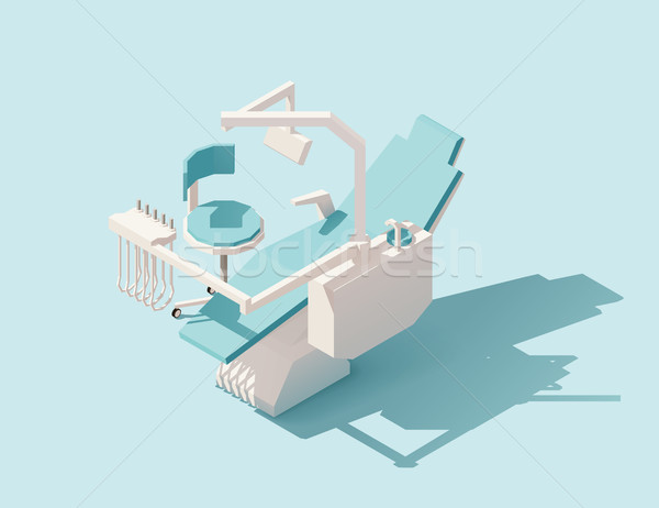 Vector isometric low poly dental chair Stock photo © tele52