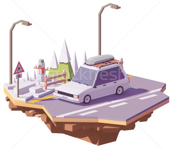 Vektör düşük kış araba yolculuk Stok fotoğraf © tele52