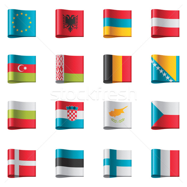 Vector flags. Europe, part 1 Stock photo © tele52